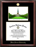 Wake Forest Demon Deacons Gold Embossed Diploma Frame with Campus Images Lithograph