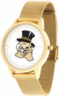 Wake Forest Demon Deacons Gold Mesh Statement Watch