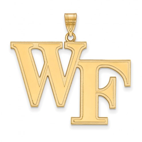 Wake Forest Demon Deacons Sterling Silver Gold Plated Extra Large Pendant
