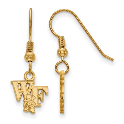 Wake Forest Demon Deacons Sterling Silver Gold Plated Extra Small Dangle Earrings