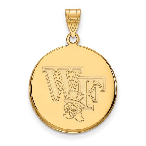 Wake Forest Demon Deacons Sterling Silver Gold Plated Large Disc Pendant