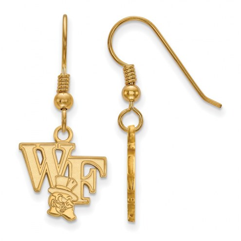 Wake Forest Demon Deacons Sterling Silver Gold Plated Small Dangle Earrings