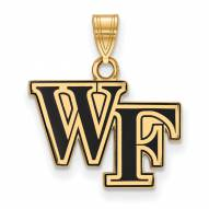 Wake Forest Demon Deacons Sterling Silver Gold Plated Small Enameled Pendant