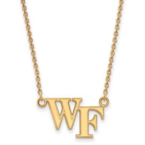 Wake Forest Demon Deacons Sterling Silver Gold Plated Small Pendant Necklace