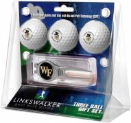 Wake Forest Demon Deacons Golf Ball Gift Pack with Kool Tool