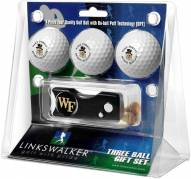 Wake Forest Demon Deacons Golf Ball Gift Pack with Spring Action Divot Tool