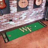 Wake Forest Demon Deacons Golf Putting Green Mat