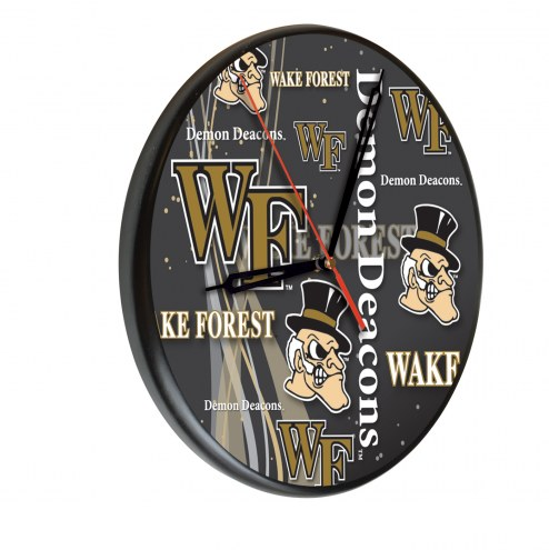 Wake Forest Demon Deacons Digitally Printed Wood Clock