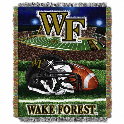 Wake Forest Demon Deacons Home Field Advantage Throw Blanket