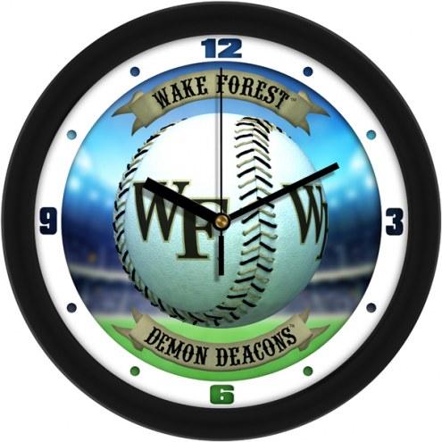 Wake Forest Demon Deacons Home Run Wall Clock