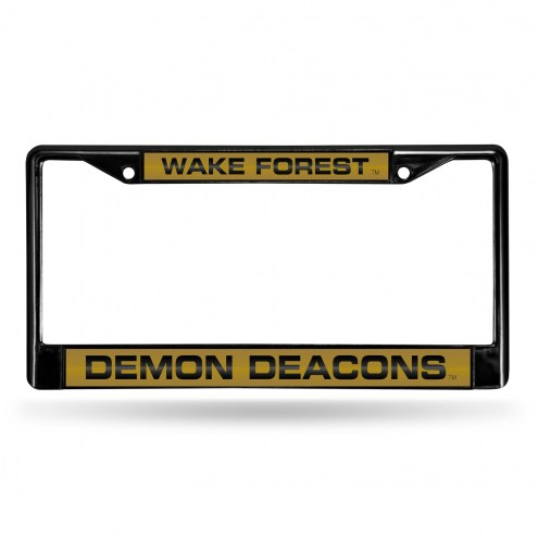 Wake Forest Demon Deacons Laser Black License Plate Frame