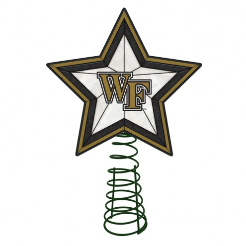 Wake Forest Demon Deacons Light Up Art Glass Tree Topper