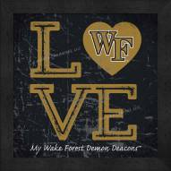 Wake Forest Demon Deacons Love My Team Color Wall Decor