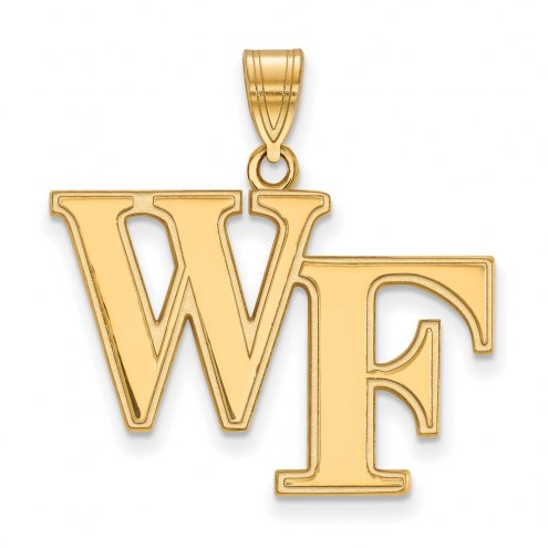 Wake Forest Demon Deacons NCAA Sterling Silver Gold Plated Large Pendant