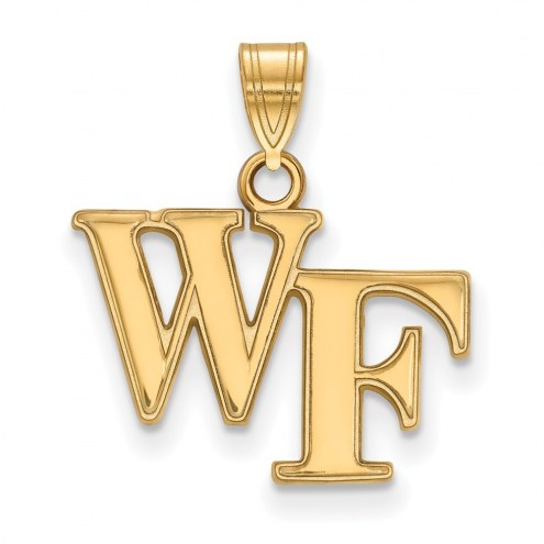 Wake Forest Demon Deacons NCAA Sterling Silver Gold Plated Small Pendant
