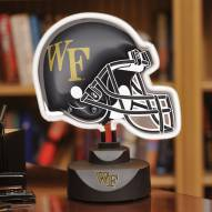 Wake Forest Demon Deacons Neon Helmet Desk Lamp