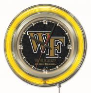Wake Forest Demon Deacons Neon Clock