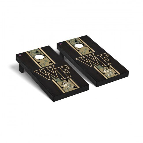 Wake Forest Demon Deacons Operation Hat Trick Stained Cornhole Game Set