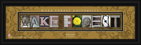 Wake Forest Demon Deacons Personalized Campus Letter Art