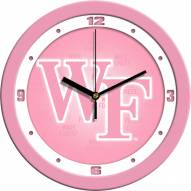 Wake Forest Demon Deacons Pink Wall Clock