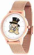 Wake Forest Demon Deacons Rose Mesh Statement Watch