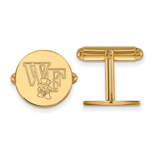 Wake Forest Demon Deacons Sterling Silver Gold Plated Cuff Links