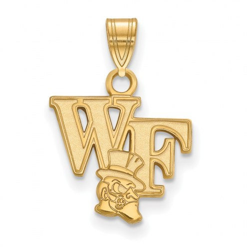 Wake Forest Demon Deacons Sterling Silver Gold Plated Small Pendant