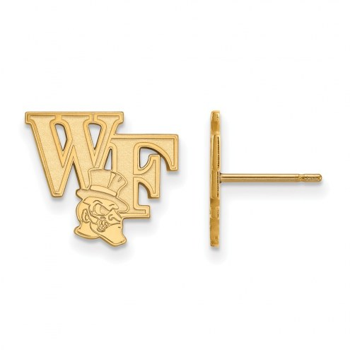 Wake Forest Demon Deacons Sterling Silver Gold Plated Small Post Earrings