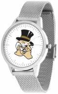 Wake Forest Demon Deacons Silver Mesh Statement Watch