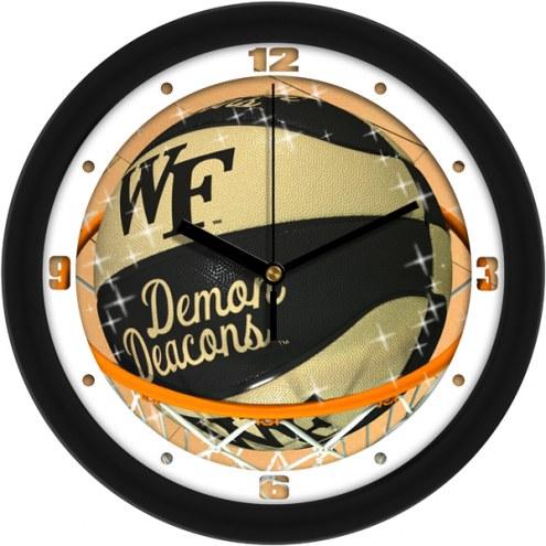 Wake Forest Demon Deacons Slam Dunk Wall Clock