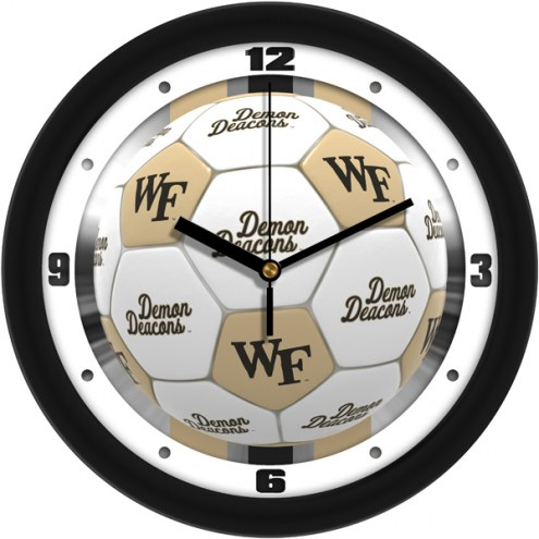 Wake Forest Demon Deacons Soccer Wall Clock