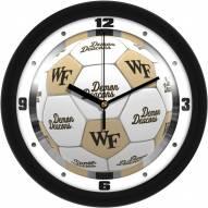 Wake Forest Demon Deacons Soccer Wall Clock
