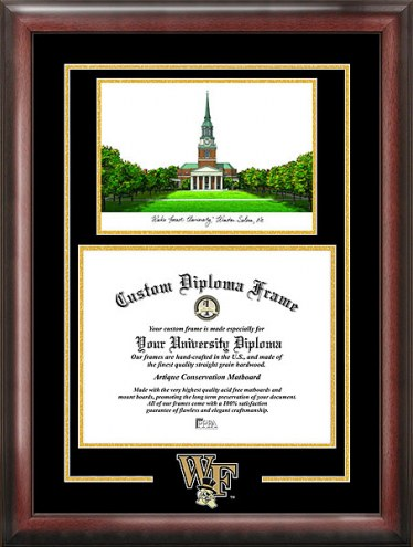 Wake Forest Demon Deacons Spirit Diploma Frame with Campus Image