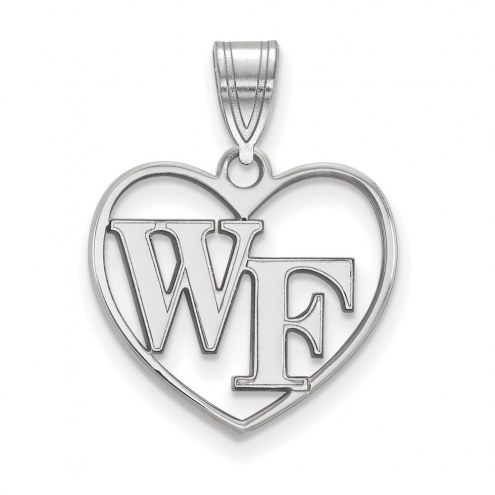 Wake Forest Demon Deacons Sterling Silver Heart Pendant