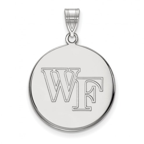 Wake Forest Demon Deacons Sterling Silver Large Disc Pendant