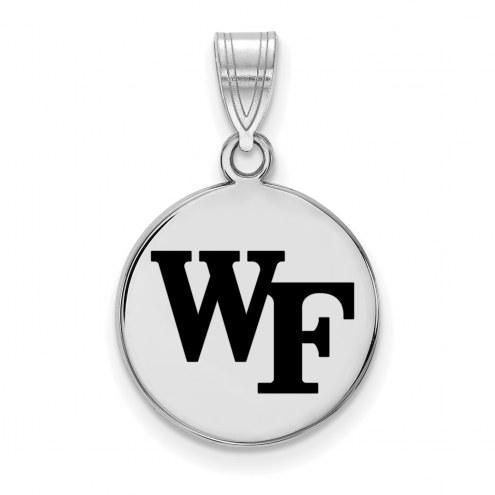 Wake Forest Demon Deacons Sterling Silver Medium Enameled Disc Pendant
