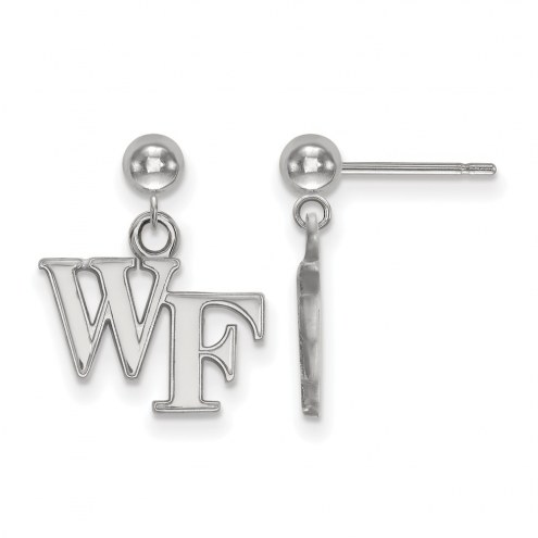 Wake Forest Demon Deacons Sterling Silver Dangle Ball Earrings