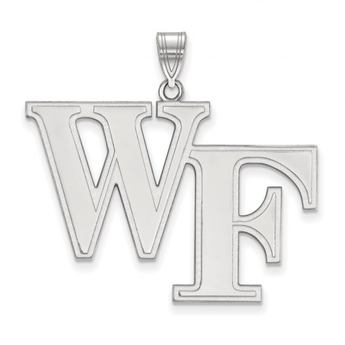 Wake Forest Demon Deacons Sterling Silver Extra Large Pendant