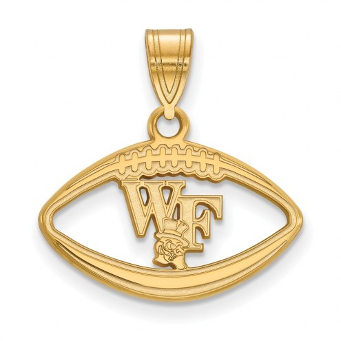 Wake Forest Demon Deacons Sterling Silver Gold Plated Football Pendant