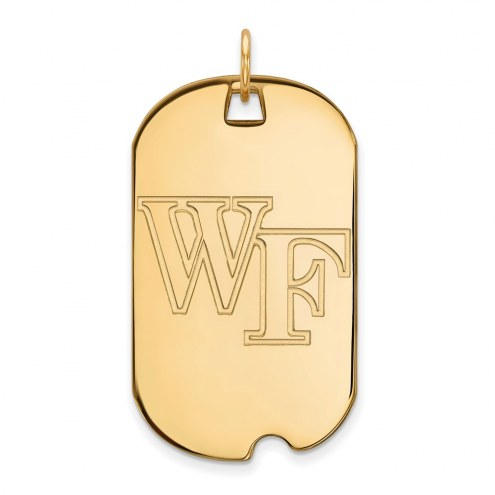 Wake Forest Demon Deacons Sterling Silver Gold Plated Large Dog Tag