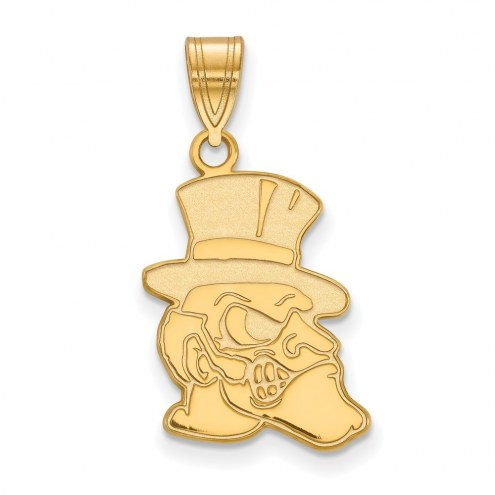 Wake Forest Demon Deacons Sterling Silver Gold Plated Large Pendant
