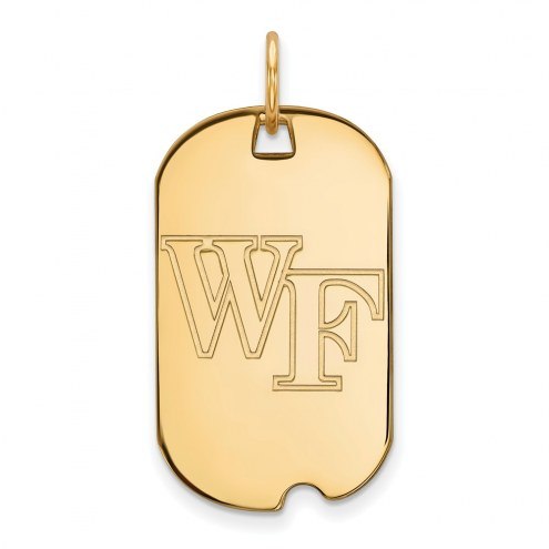 Wake Forest Demon Deacons Sterling Silver Gold Plated Small Dog Tag
