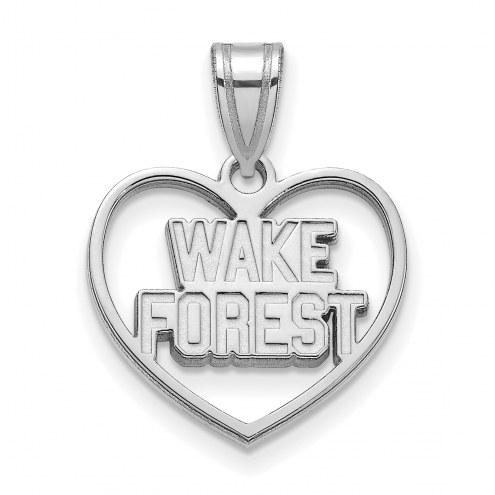 Wake Forest Demon Deacons Sterling Silver Heart Pendant