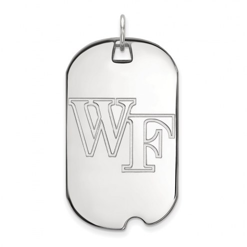 Wake Forest Demon Deacons Sterling Silver Large Dog Tag