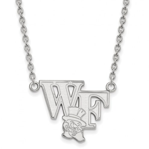Wake Forest Demon Deacons Sterling Silver Large Pendant Necklace