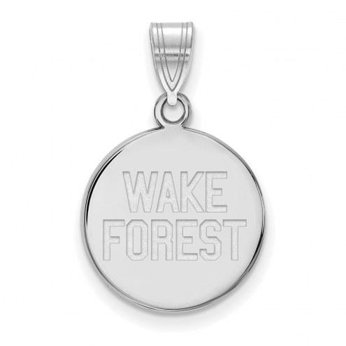Wake Forest Demon Deacons Sterling Silver Medium Disc Pendant