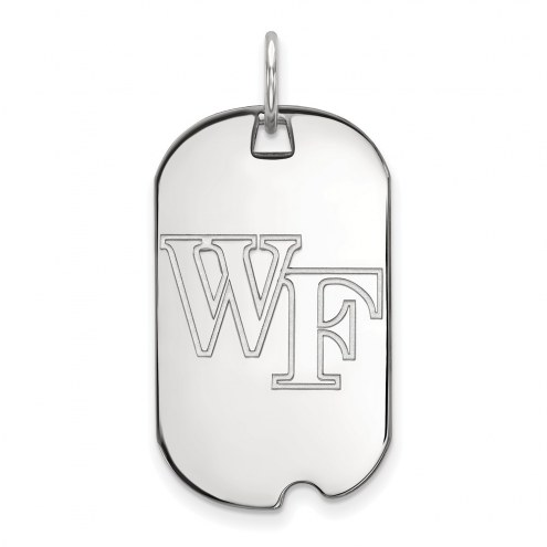 Wake Forest Demon Deacons Sterling Silver Small Dog Tag