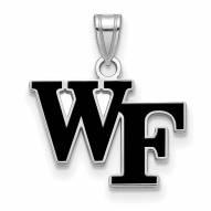 Wake Forest Demon Deacons Sterling Silver Small Enamel Pendant