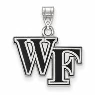Wake Forest Demon Deacons Sterling Silver Small Enamel Pendant