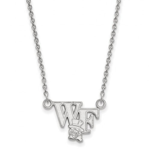 Wake Forest Demon Deacons Sterling Silver Small Pendant Necklace